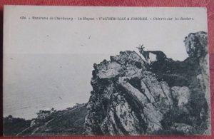 Carte postale ancienne chèvres sur les Rochers